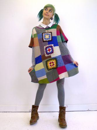 Patchwork Knitted Dress