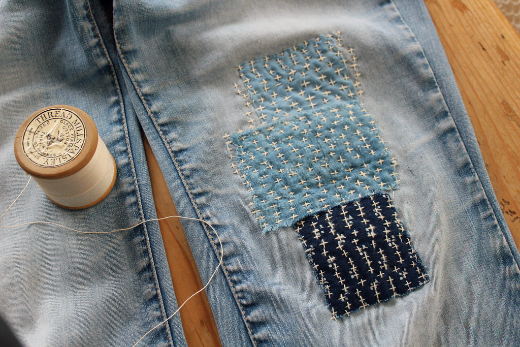 Brighton Visible Jeans Denim Mending Workshop Sashiko Boro