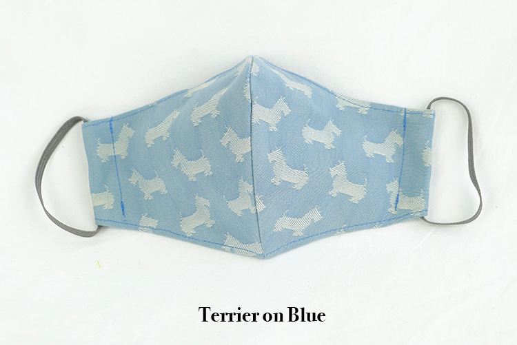 Children's Sustainable Face Mask Chambray Terrier